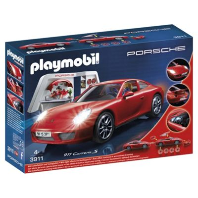 Playmobil 3911 Porsche 911 Carrera S With Lights And Showroom Playset