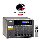 QNAP TS-653A-4G/6TB-IW 6-Bay 6TB(6x1TB Seagate IronWolf) Network Attached Storage with 4GB RAM