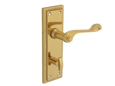 Forge Backplate Handle Bathroom - Georgian Brass 152mm