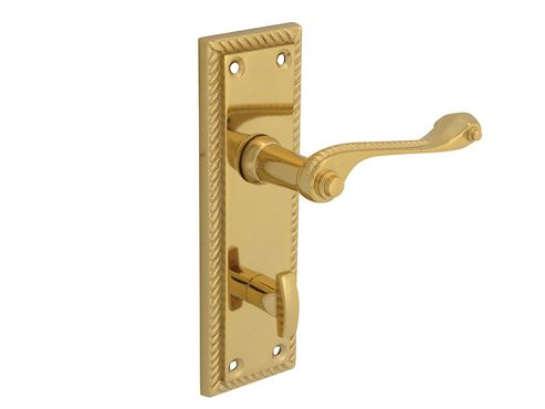 Forge Backplate Handle Bathroom - Georgian Brass 152mm