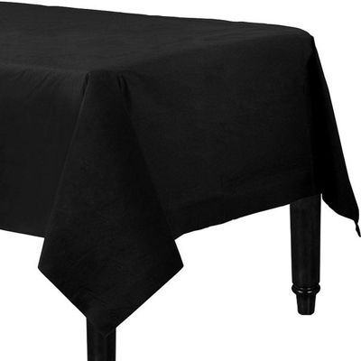 Black Tablecover - 2ply Paper - 1.4m x 2.8m