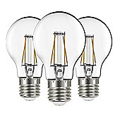 Liteway LW8903 Filament 4w ES E27 GLS Pack of 3 LED Bulbs, 400 Lumen, Warm White, 40w Traditional Replacement [Energy Class A+]