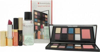 Elizabeth Arden Beauty on the Go Gift Set 6.4g x 8 Eye Shadows + 2g Blush + 4ml Luminous Lip Gloss + 3.5g Raspberry Lipstick + 50ml Eye and Lip Makeup