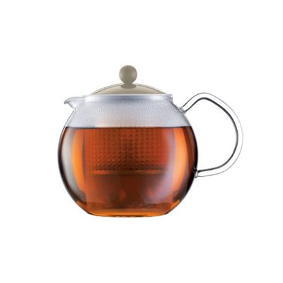 Bodum Assam 0.5L Tea Press Teapot with Beige Lid