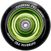 Slamm Black/Slime Green Anodised Metal Core Scooter Wheel and Bearings
