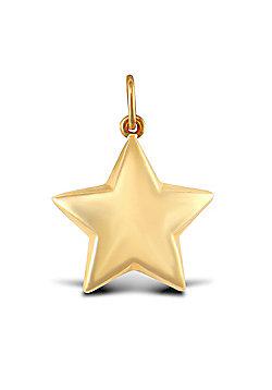 Ladies 9ct Yellow Gold Star Charm Pendant