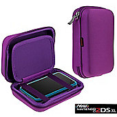 Navitech Purple Premium Travel Hard Carry Case Cover Sleeve For The Nintendo 2DS XL