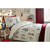Fusion Christmas Billy Bunny Duvet Cover Set - Natural