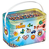 """Hama 10,000 Beads & Colourful Pegboard Bucket"""