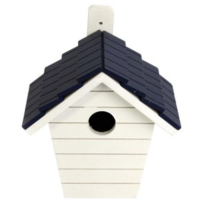 Nautical blue stripe bird house