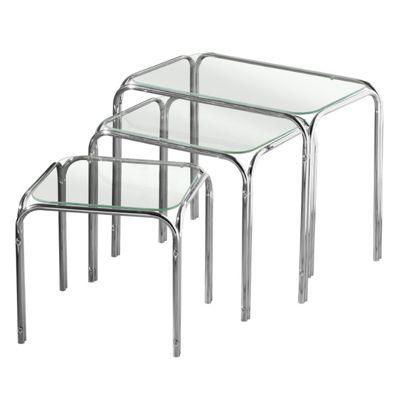 Lisbon Set of 3 Nesting Tables - Clear