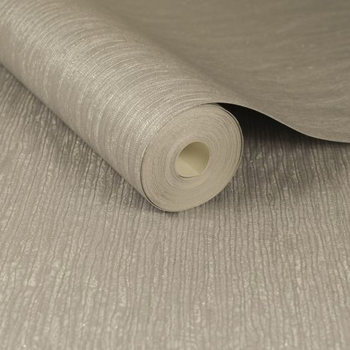 Boutique Taupe Corsetto Metallic Textured Heavyweight Vinyl Wallpaper