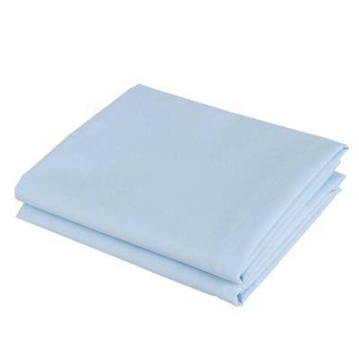 Tesco Twinpack Housewife Pillowcases Powder Blue