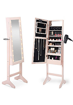 Beautify Make Up & Jewellery Floor Standing Storage Mirror - Blush Pink