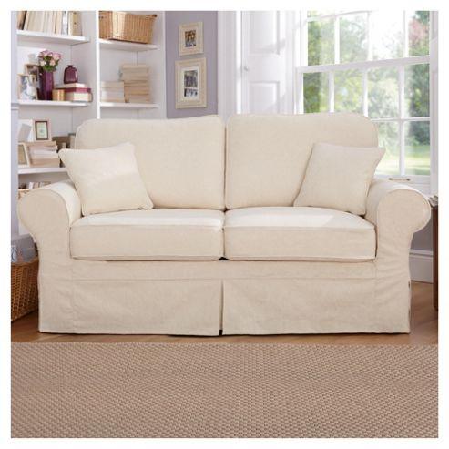 Louisa Loose Cover Fabric Sofa Bed Cream Jaquard
