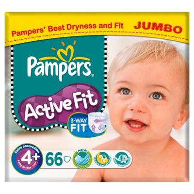 Pampers Active Fit Jumbo Maxi+ 66