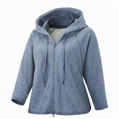 adidas Stella McCartney Womens Studio Hoodie Jacket Blue - UK 4-6