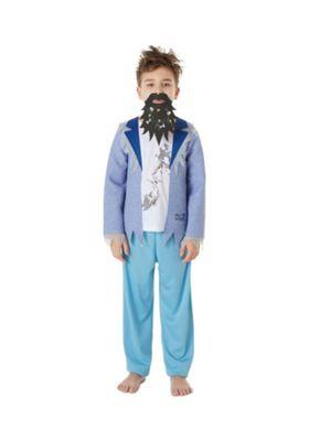 Roald Dahl The Twits Mr Twit Fancy Dress Costume Blue 3-4 years
