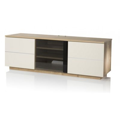 UKCF New London Oak/Cream TV Stand For up to 65 inch TVs