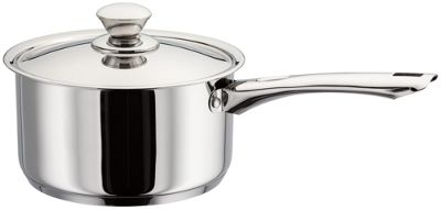 Judge Platina Mirror Polished Stainless Steel Vented Induction Saucepan Pan 20cm