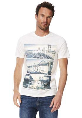F&F Los Angeles City Print T-Shirt White M