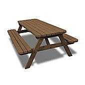 Oakham rounded picnic bench - 6ft