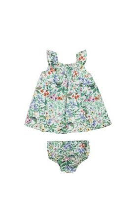 F&F Tropical Smock Dress with Briefs Multi 3-6 months