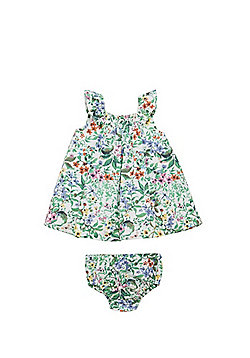 F&F Tropical Smock Dress with Briefs - Multi