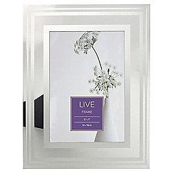 Tesco Glass Photo Frame With Silver Border 5 X 7