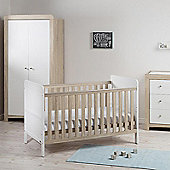 East Coast Fontana Ice 4 Piece Nursery Room Set with Sprung Mattress