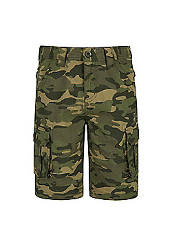 Mountain Warehouse CAMO CARGO KIDS SHORTS - Khaki