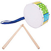 Bigjigs Toys Drum (Green/Blue)