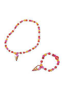 Tatiri Cupcake Bracelet and Necklace (Ice Cream)