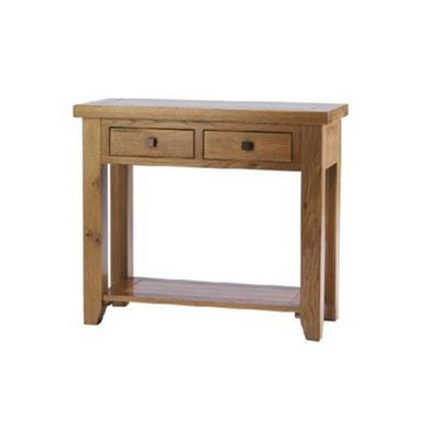 Hampton Solid Oak Console Table