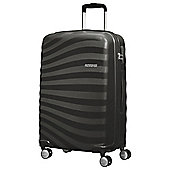 American Tourister Oceanfront Medium 4 Wheel Black Suitcase