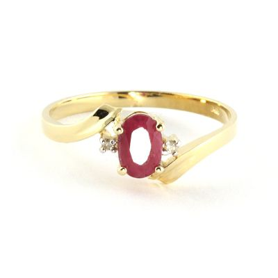 QP Jewellers Diamond & Ruby Embrace Ring in 14K Gold - Size W