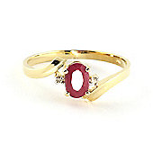 QP Jewellers Diamond & Ruby Embrace Ring in 14K Gold