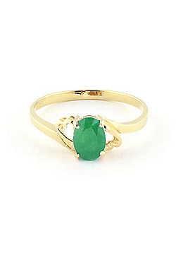 QP Jewellers 0.75ct Emerald Classic Desire Ring in 14K Gold