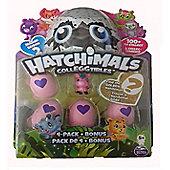 Spinmaster Hatchimals CollEGGtibles 4 Pack + Bonus FARM Pink Donkey Season 2