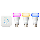Philips Hue White and Colour Ambiance Starter Kit (B22) Version 3