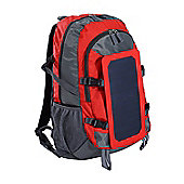 Homcom 6.5W Solar Panel Power Backpack Travel Camping Bag Charging w/ Removable Solar Panel For Phone