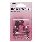 Hemline 40mm Bronze Bib & Brace Set