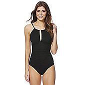 F&F Luxury Tall High Neck Swimsuit - Black