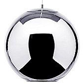 Litecraft Abigail Large 1 Bulb Sphere Ceiling Pendant, Chrome