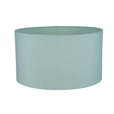 35cm Eau De Nil Poly Cotton Cylinder Drum Shade