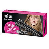 Braun ST100 Black Satin Mini Hair Straightener Styler