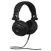 KitSound DJ On-Ear Headphones, Black