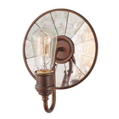 Astral Bronze 1lt Wall Light - 1 x 100W E27