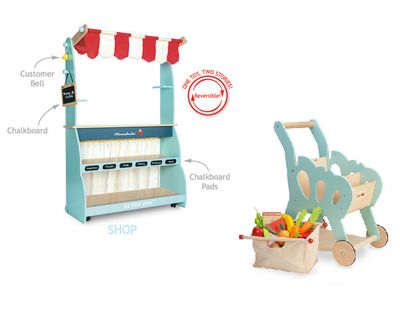 Le Toy Van Shop & Cafe Honeybake and Shopping Trolley