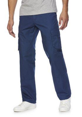 F&F Loose Fit Cargo Trousers Blue 38 Waist 32 Leg